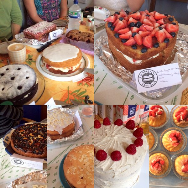 Just some of the cakes at Clandestine Cake Club Gloucester