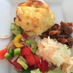 Twice baked cheese souffle at Cafe Mosaic, Cirencester