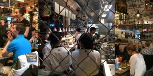 A peep into the kitchen - lots of training going on