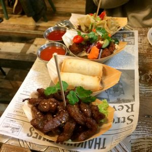 A delicious Thaikhun sharing platter to start