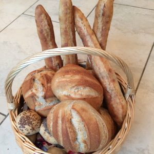 Bread made by participants on the Get down to basics course