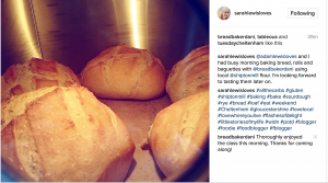 Sarah and Adam attended the bread course on 12 February