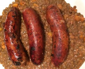 Toulouse sausages and puy lentils from Classic Koffman