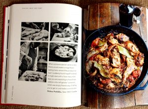 A spread from Classic Koffman. Beautiful photographs of the finished dish and of preparation