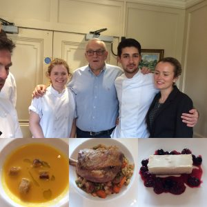 Pierre Koffman with the team at the Bath Priory