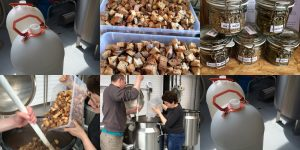 Creating the toast beer at Stewart Brewing