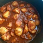 The finished squid stew - doesn't it look appetising?
