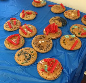 We had great fun decorating the biscuit