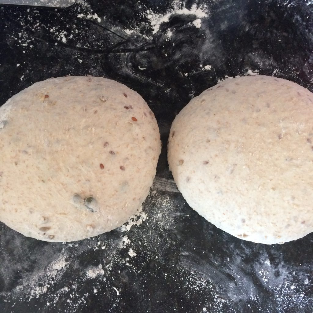Forming dough into rounds
