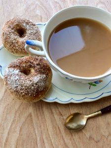 Tea and doughnuts - perfect for breakfast