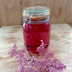 The elderflower cordial. Isn't it pretty?