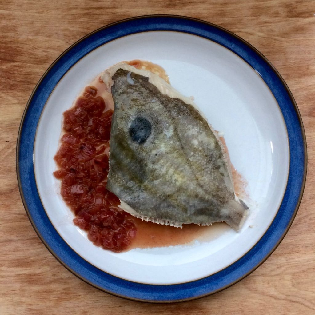 A delicious dish of John Dory with Rose Sauce
