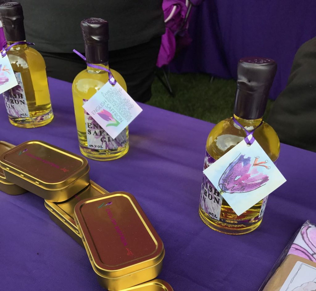 Saffron grown in Saffron Walden made into gin