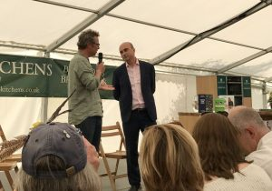 Hugh Fearnley Wittingstall with Phil Lymbery