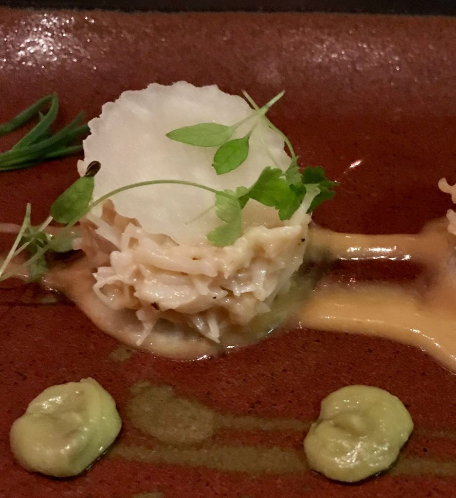 Crab and Kohlrabi - a refreshing combination at the Old Passage Arlingham