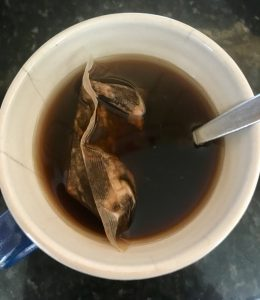 Add boiling water, brew for 3 to 5 minutes and squeeze