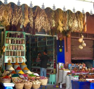 Spices in the souk in Morocco