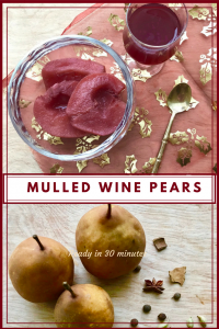 Create a spicy winter dish - mulled wine pears