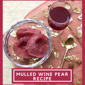 An easy to make dessert: mulled wine pears