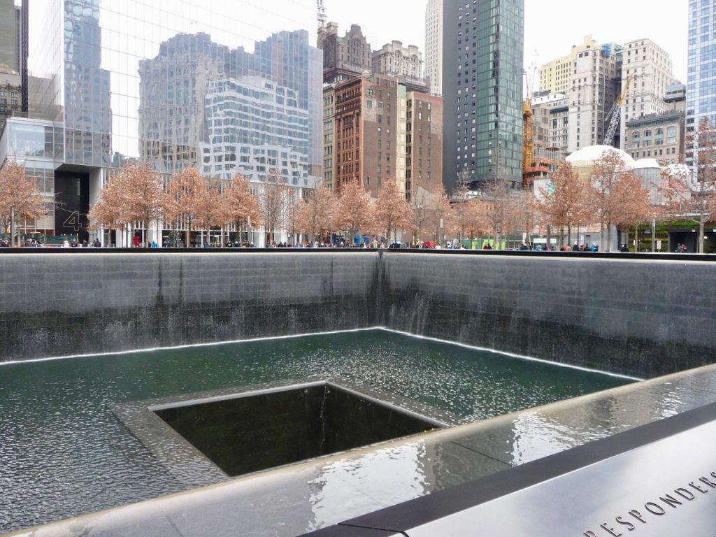 One of the 9 11 Memorial Pools