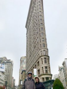 A very wet day for our tour didn't dampen our Flatiron District discovery