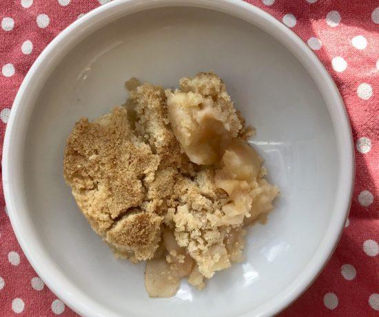 Apple crumble - just add cream, custard or ice cream