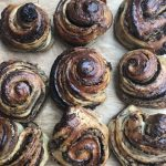 Sweet doughs such as this chocolate almond filled bun need more yeast