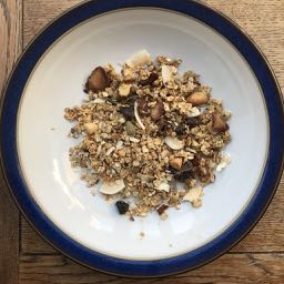 Home made muesli, but ingredients from so many countries