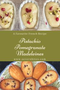 French baking, patisserie, Madeleines, Pomegranate, Pistachio, Afternoon Tea