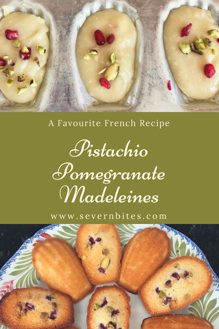 French baking, patisserie, Madeleines, Pomegranate, Pistachio, Afternoon Tea