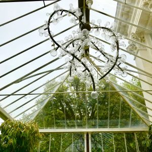 The glass sculpture in the Conservatory