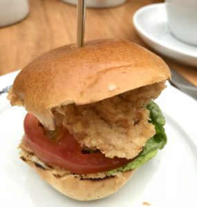 Chicken slider at Malmaison