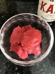 Raspberry Sorbet with Katy Cider