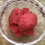 Raspberry sorbet with cider