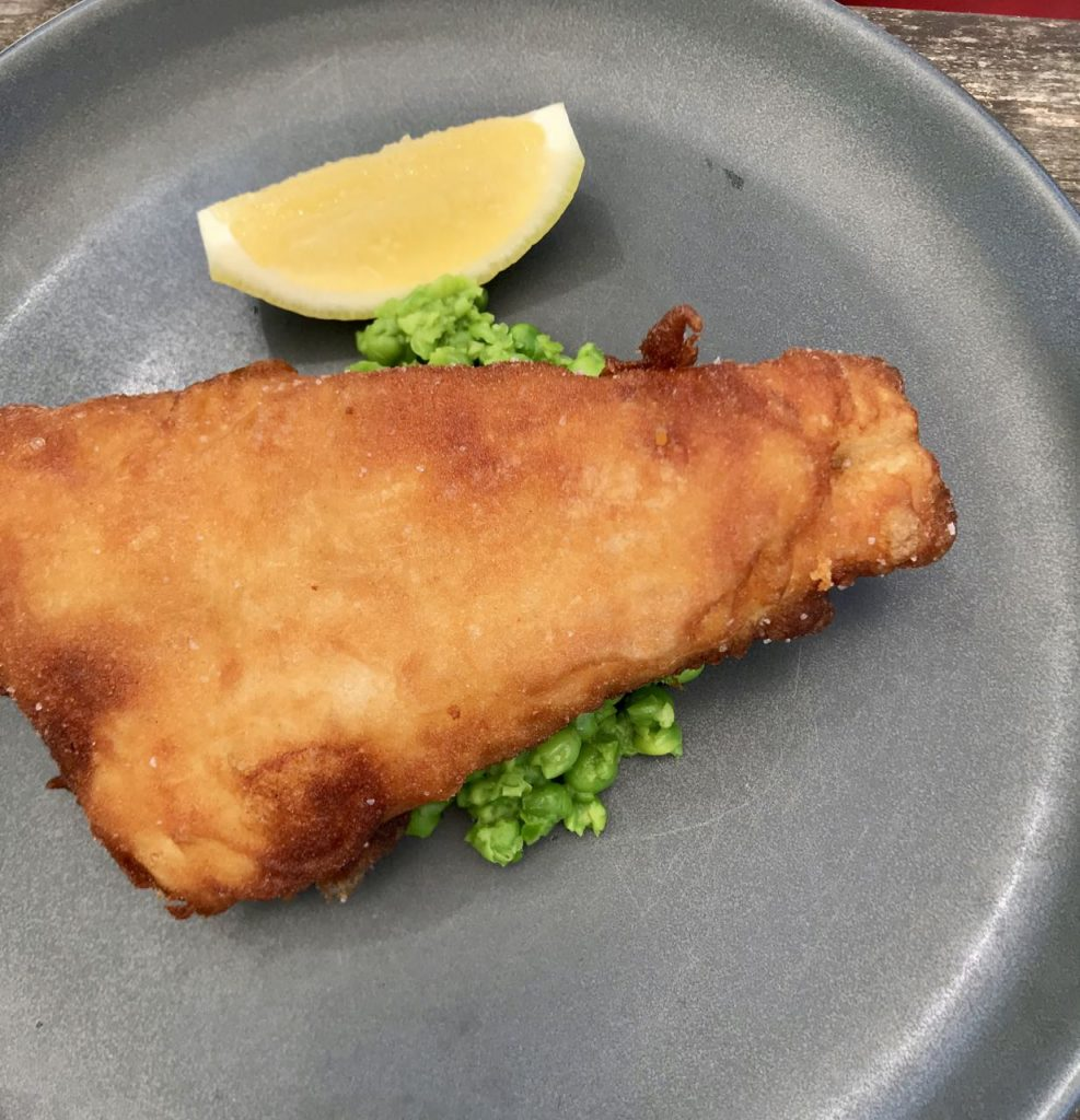 Haddock from the traditional menu