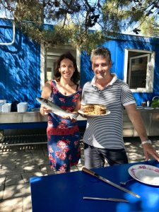 Irena and Goradz - Sea bass and Simnel Cake