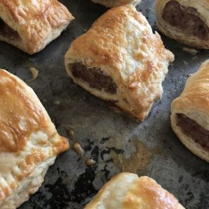 Sausage Rolls with Rough Puff Pastry