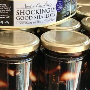 One of her popular pickles Shockingly Good Shallots