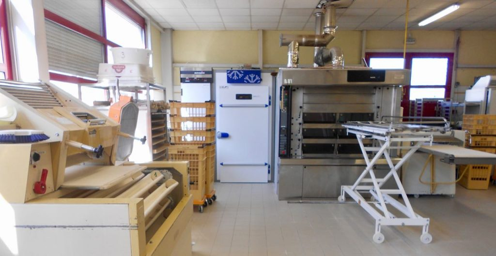 The well equipped bakery where I trained