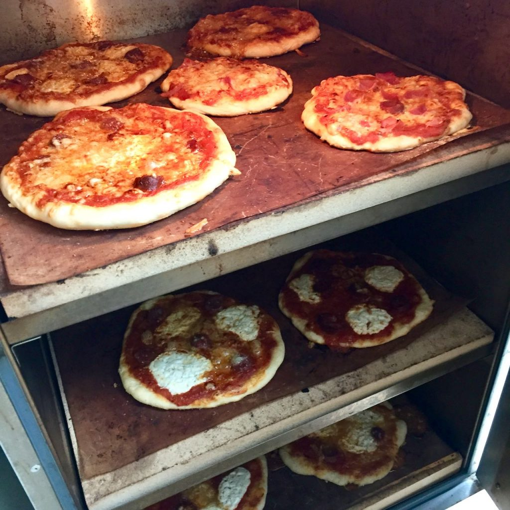 Pizzas in the Rofco oven