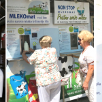 The milk vending machine in Ljubljana's market square