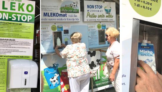 The milk vending machine in Ljubljana's market square