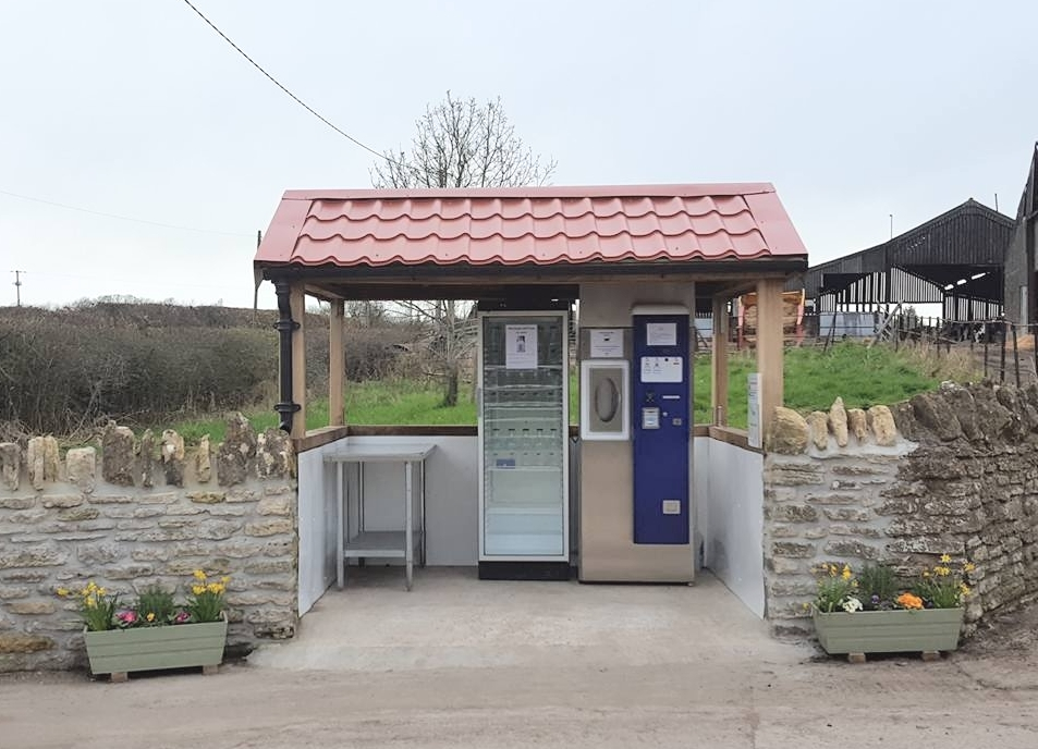 Milk Vending Machine at Thytherington Farm