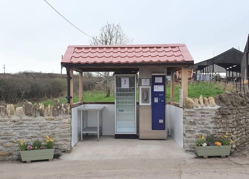 Milk Vending Machine at Thytherington Farm