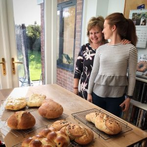 Mother and daughter baking class