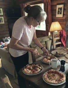Pizzas at Log House Holidays