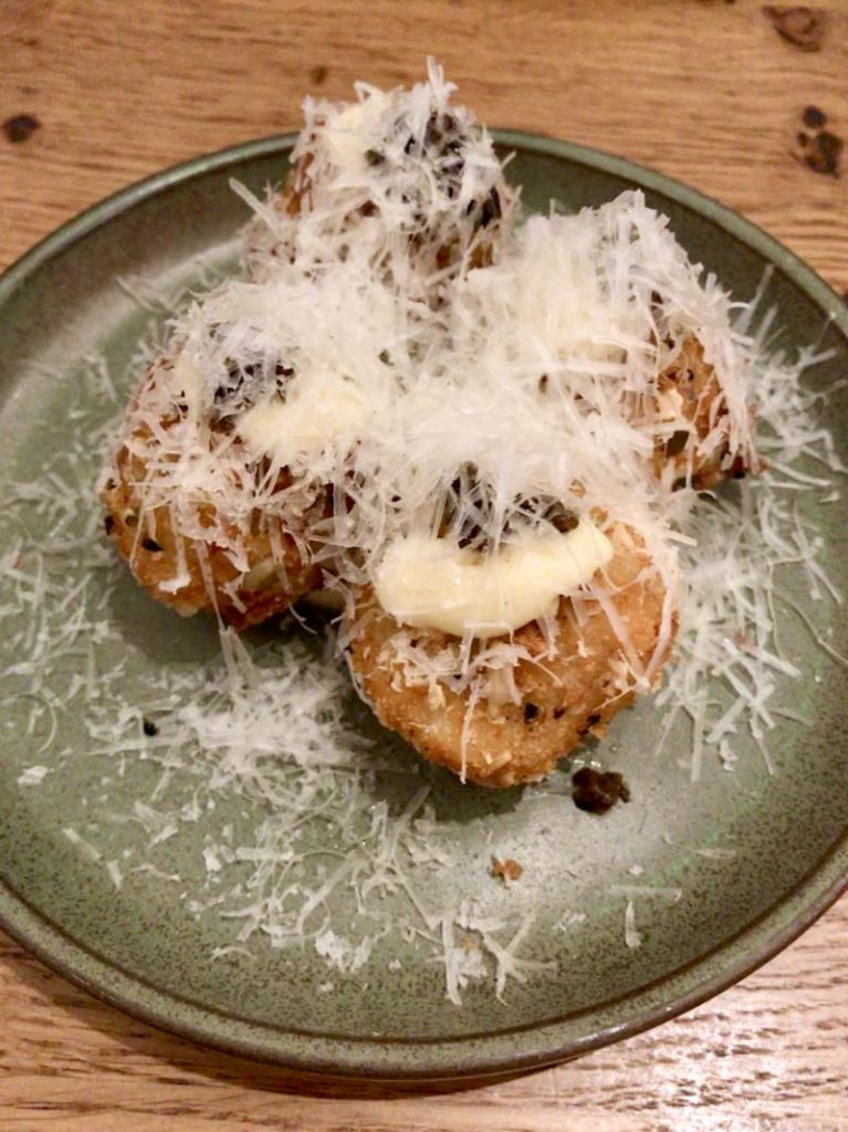 Parsnip and Pecorino Croquettes at Rovi restaurant