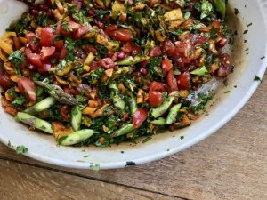 Fresh asparagus salad recipe