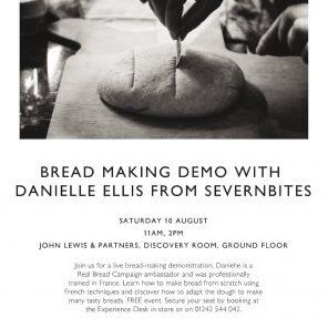 John Lewis Breadmaking demo