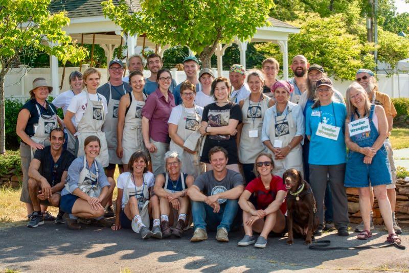 Work Study Volunteers Maine Grain Kneading Conference